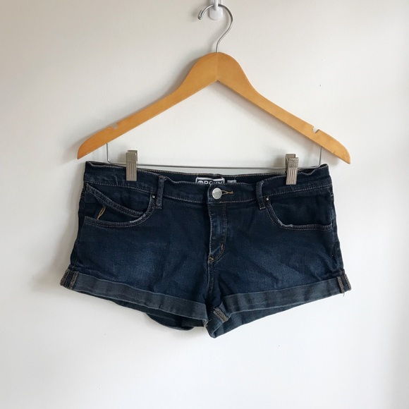Roxy Pants - Dark denim jean shorts